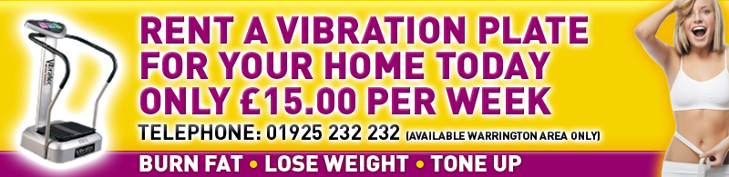 rent a domestic vibration plate for your home from only £15 per week, available in warrington area only