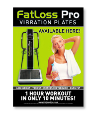 fatloss promotional marketing vibration plates, exercise posters, awareness window poster,advertising